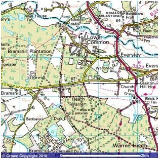 Detail map of Bramshill