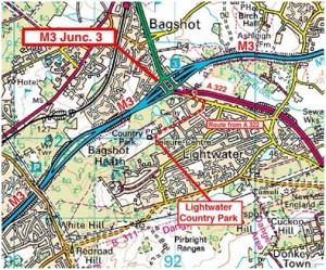 Map of Lightwater Country Park