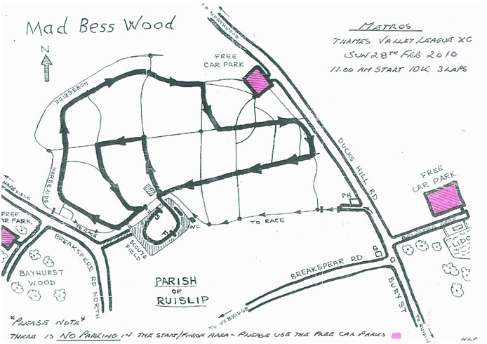 Map of Mad Bess Wood