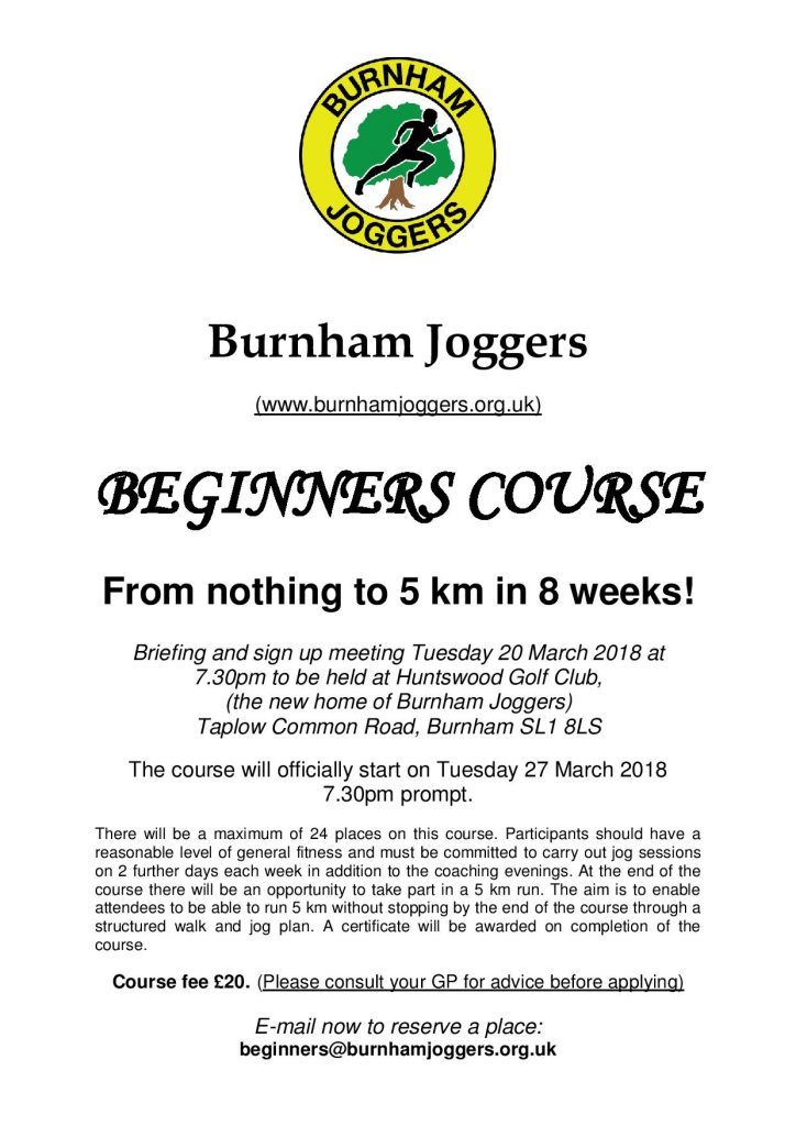 Burnham Joggers Beginners Course
