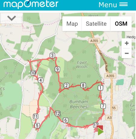 Burnham Half Marathon Route